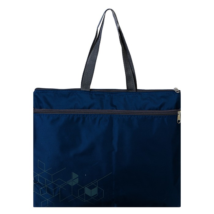 Папка с ручками текстиль А4 30мм 380*290 Luris, синий 8511.227