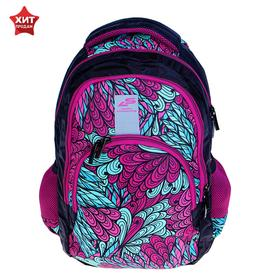 Рюкзак молодёжный, Luris «Рондо», 44 x 30 x 17 см, эргономичная спинка, «Узор»