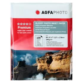 Фотобумага AGFA 13х18, 240 г/м², 100 листов, глянцевая