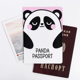 "Обложка на паспорт ПВХ ""Панда"": размер 13,5 х 9,2 х 0,2 см"