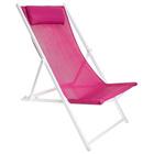 Кресло-шезлонг 134 х 60 х 100 см, цвет сиреневый, до 70 кг