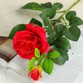 """Artificial flowers """"rose Ophelia"""" 10*63 cm, red"""