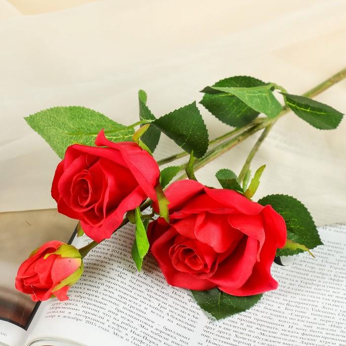 """Цветы искусственные """"Роза Глория"""" 8*48 см, красная"""