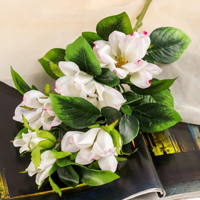 """Цветы искусственные """"Магнолия"""" 5*56 см, белая - фото 725633478"""