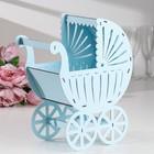 """Family Bank """"Stroller"""", plywood, blue, 27х15х33,5 cm"""