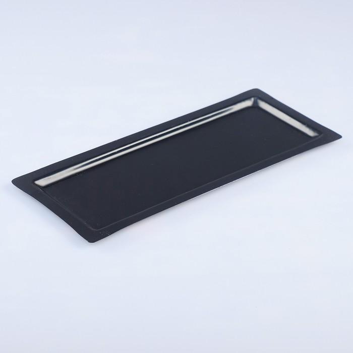 Поднос, заготовка под роспись, 31,5×13,5 см, чёрный