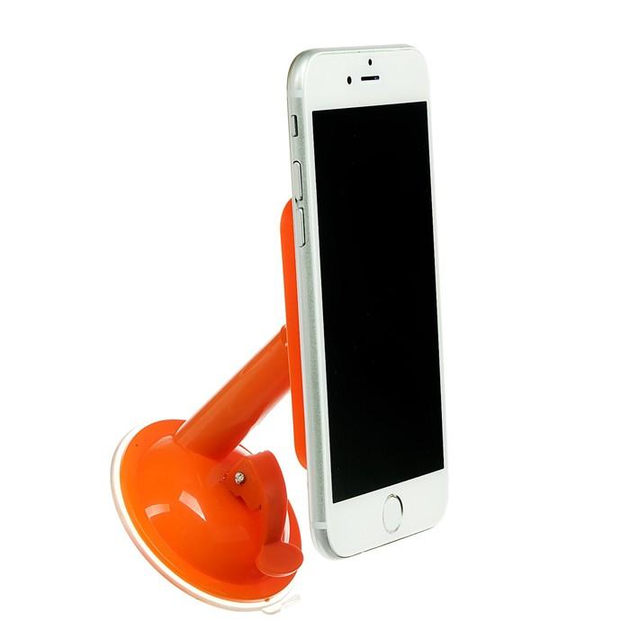 Подставка для телефона LuazON, держатель на восьми липучках, регулировка положения,оранжевая