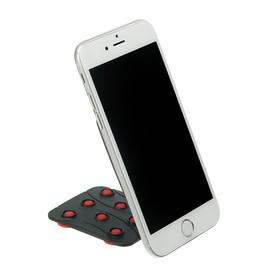 Подставка для телефона LuazON, держатель на восьми липучках, регулировка положения, красная Ош