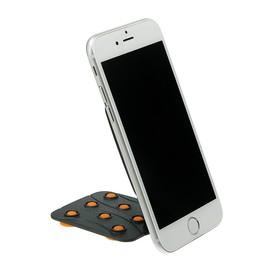 Подставка для телефона LuazON, держатель на восьми липучках, регулировка положения,оранжевая Ош