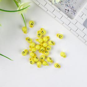 Декор для творчества пластик 'Жёлтые смайлики' набор 26 шт 1,3х1х1 см (комплект из 3 шт.)