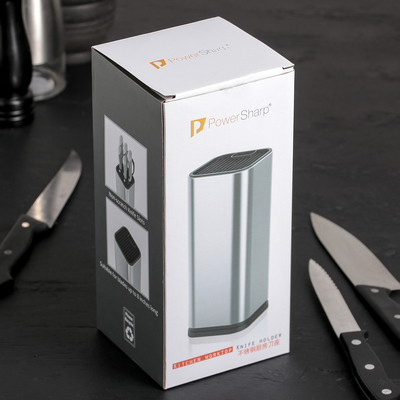 Подставка для ножей и ножниц «Металлик», 10×10×23 см