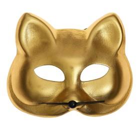 "Carnival mask ""Cat"" gold color"