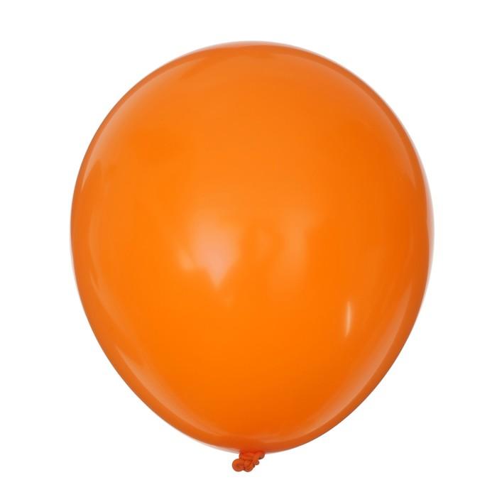 """Шар латексный 10"""", набор 25 шт., цвет оранжевый - фото 303504780"""