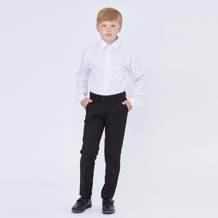 Рубашка для мальчика, цвет белый, рост 116 см - фото 76129591
