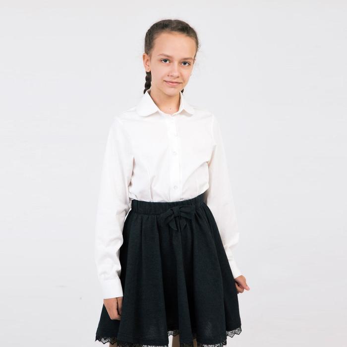 Блузка для девочки, цвет молочный, рост 122 см - фото 105464764