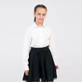 Школьная блузка для девочки, цвет молочный, рост 140 см