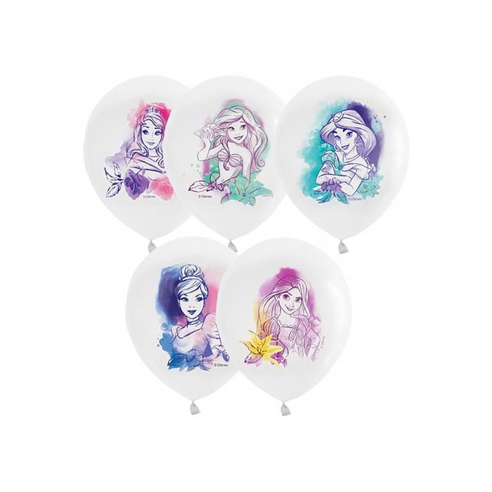 """Шар латексный 12"""" «Принцессы», акварель, дисней, пастель, 1-сторонний, набор 25 шт. - фото 308467182"""
