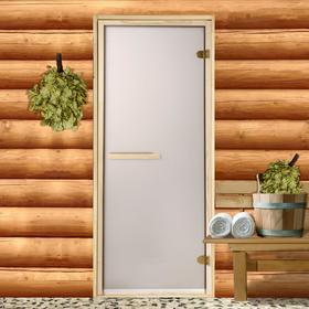 Дверь стеклянная «Бронза матовая», размер коробки 190 × 70 см, 6 мм, 2 петли