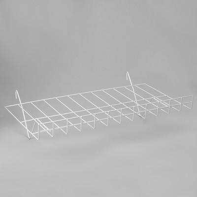 Полка наклонная ПФ-625, цвет белый