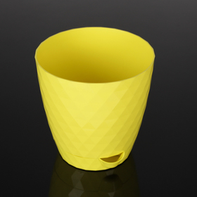Кашпо с прикорневым поливом «Румба», 1,5 л, цвет жёлтый