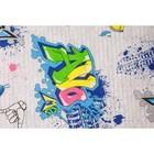 Постельное бельё 1,5сп «Граффити», 145х215см, 150х215см, 70х70 см, бязь - фото 105558954