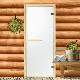 Дверь стеклянная «Сатин», размер коробки 190 × 70 см, 2 петли, 6 мм