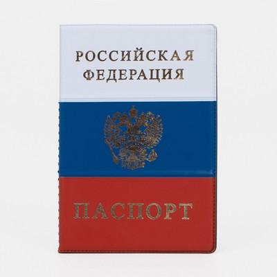 Passport cover, emblem, Tricolor