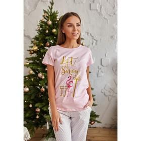 """Футболка женская KAFTAN """"Santa baby"""", розовый, р. 40-42"""