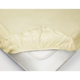 Простыня на резинке, размер 140 × 200 см, поплин, цвет ванильный