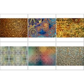 Набор декупажных карт 6 шт «Радужные фоны»