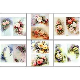 Набор декупажных карт 6 шт «Винтажные цветы»