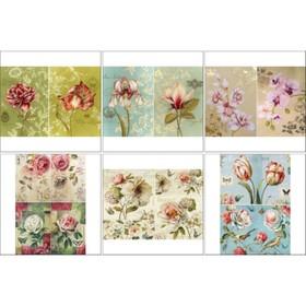 Набор декупажных карт 6 шт «Чудесное цветение»