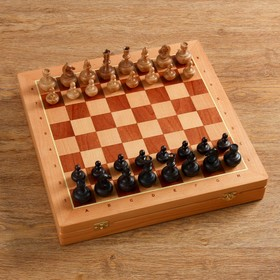 "Шахматы ""Гандикап"" утяжеленные, (доска 43х43 см, бук, король h=8.5, пешка h=4.5 см)"