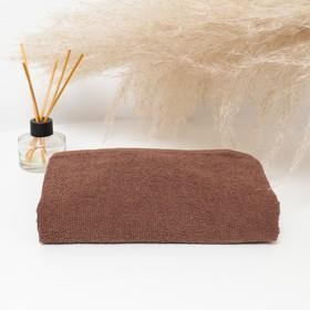 Полотенце махровое 30х50 см, коричневый, хлопок 100%, 360 г/м2