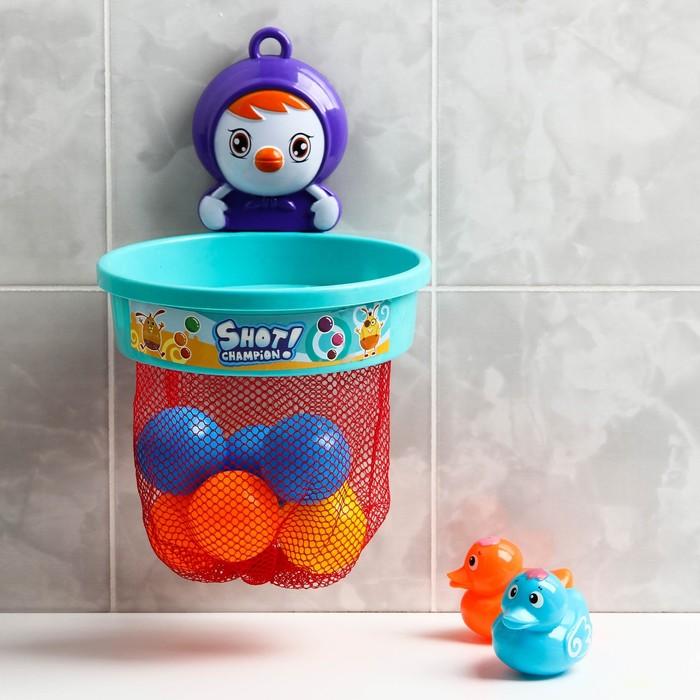 Набор игрушек для купания «Баскетбол - чемпион», на присоске, виды МИКС