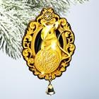 Подвеска на ёлку с доп. элементом «Золотая мышка», дерево