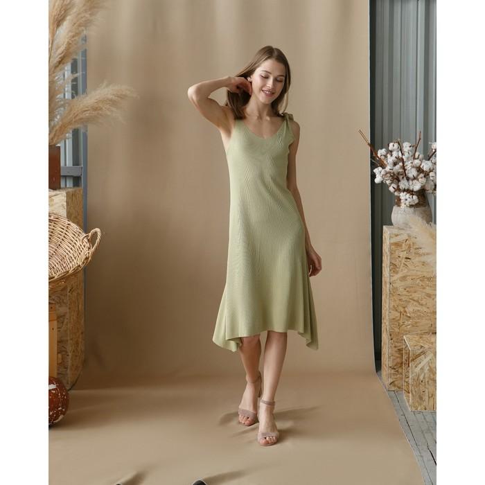"""Платье женское MINAKU """"Марте"""", вид 2, размер 44-46, цвет фисташковый"""
