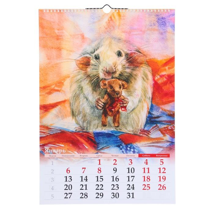 """Календарь перекидной, ригель """"Символ года 4"""" 2020, 34 х 49 см - фото 370374317"""
