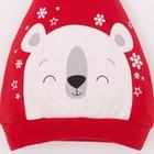 """Чепчик (шапочка) Крошка Я """"Новогодний медвежонок"""", красный, р.48 - фото 105570150"""