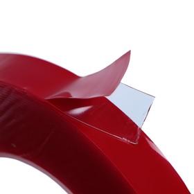 Клейкая лента TORSO, прозрачная, двусторонняя, акриловая, 6 мм x 10 м - фото 7279963