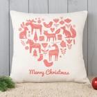 Подушка декоративная с фотопечатью Счастливого рождества 40х40 см, хл. 34%, полиэфир 66%