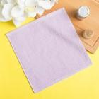 Полотенце махровое 30х30 см, лаванда, хлопок 100%, 360 г/м2. цвет микс