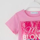 """Футболка детская KAFTAN """"Blonde"""" р.32 (110-116 см), розовый - фото 105705101"""