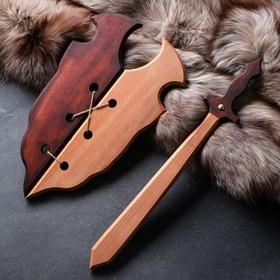 """Сувенир деревянный """"Набор воина"""", щит 36 х 27 см, меч 38 х 7 см"""