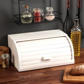 """Хлебница деревянная """"Прованс"""", 37 см, массив бука"""