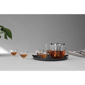 Чайный набор Bjorn, 750 мл/70 мл, 6 предметов, чёрный