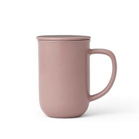 Чайная кружка с ситечком Minima 500 мл, чайная роза