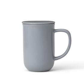Чайная кружка с ситечком Minima 500 мл, серо-голубой