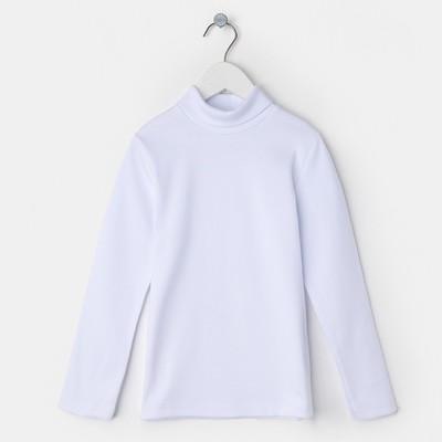 Водолазка для девочки, цвет белый, рост 158 см