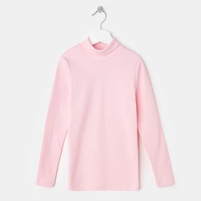 Водолазка для девочки, цвет светло-розовый, рост 158 см